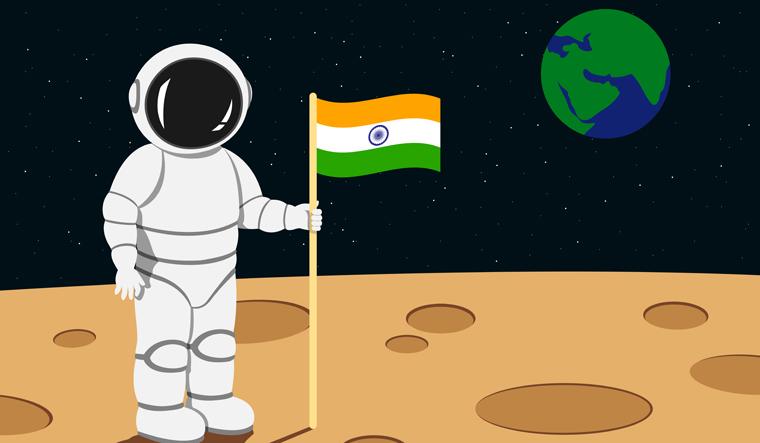 india-moon-mission-flag-indian-on-moon-shut