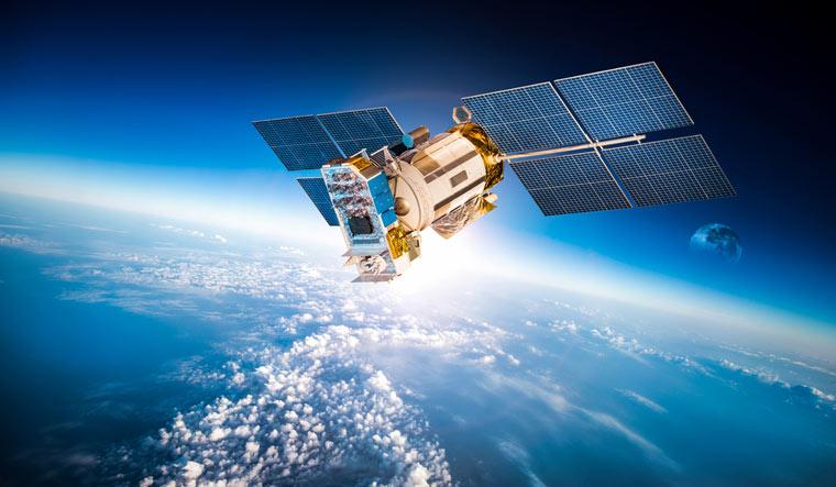 Space-satellite-orbiting-earth-shut