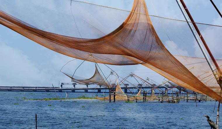 kochi-cochin-Chinese-fishing-net-vembanad-lake-kerala-chinese-fishing-net-shut