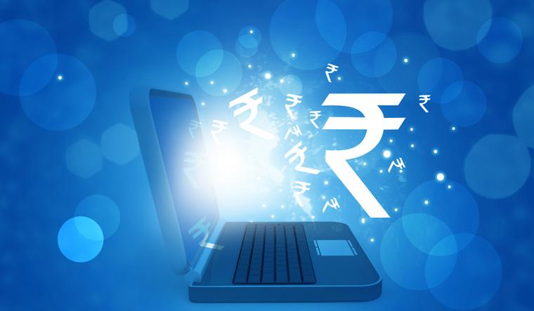Rupee-symbol-computer-logo-laptop-money-economy-finance-RBI-shut