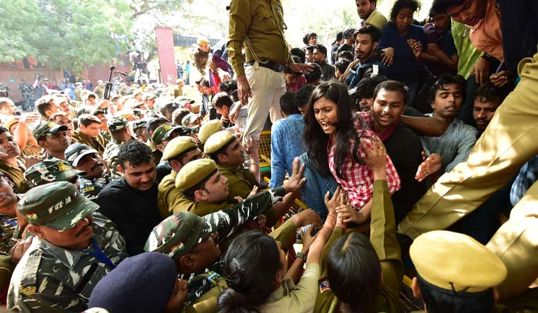 JNU students protest PTI