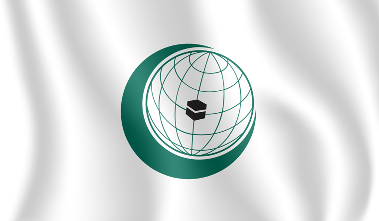OIC-Organisation-of-Islamic-Cooperation-flag-shut