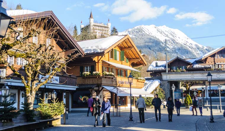 Tourism-Gstaad-village-in-the-German-speaking-section-of-the-Canton-of-Bern-in-southwestern-Switzerland-shut