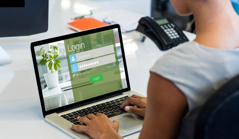 computer-woman-tryinig-new-password-lock-lost-password-shut