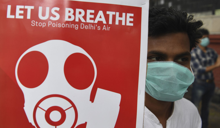 INDIA-POLLUTION-HEALTH-PROTEST