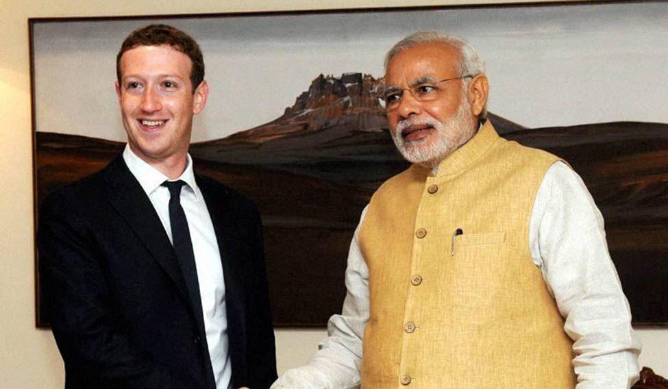 Zuckerberg and Modi