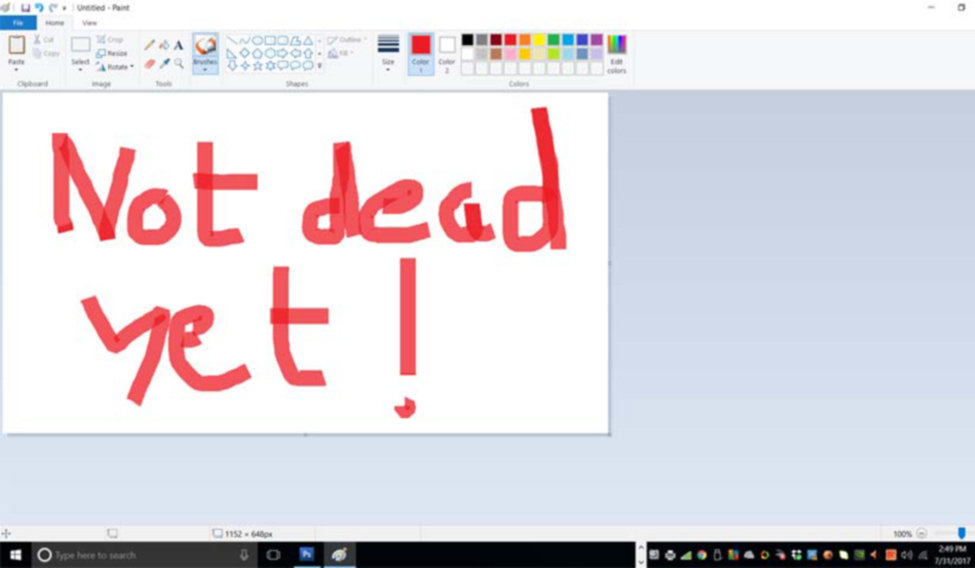 Microsoft Paint tool killed, then resurrected