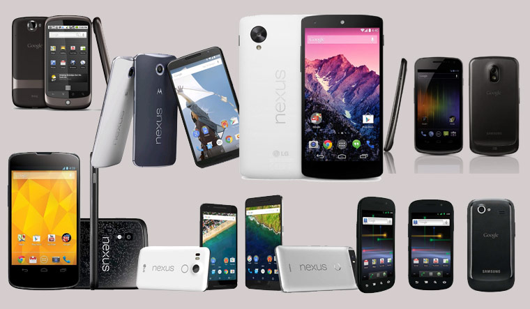 Through the history pages of the Nexus smartphones