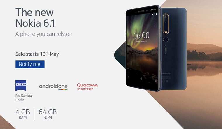 Nokia 6.1 to go on Amazon sale on May 13