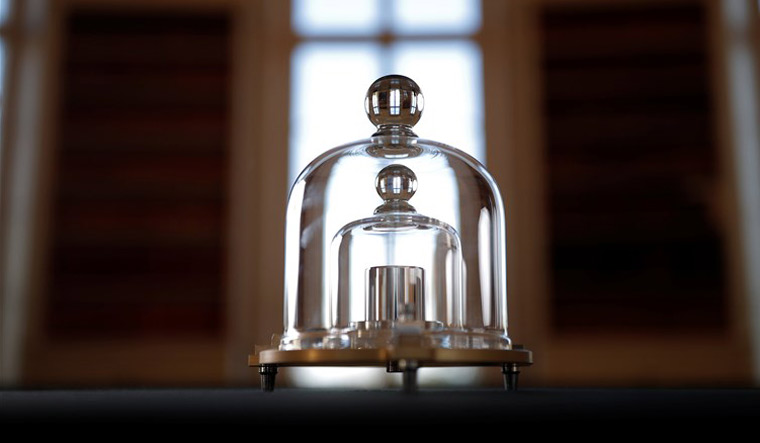 A replica of the International Prototype Kilogram at the International Bureau of Weights and Measures (BIPM) in Sevres near Paris | Reuters