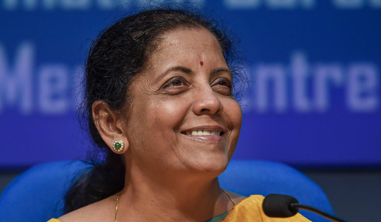 Union Finance Minister Nirmala Sitharaman during the post-budget press conference in New Delhi | PTI