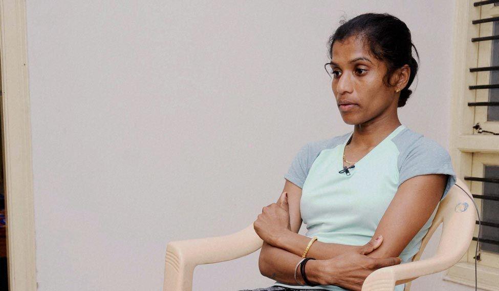 Marathon runner OP Jaisha at SAI office in Bengaluru on Monday.