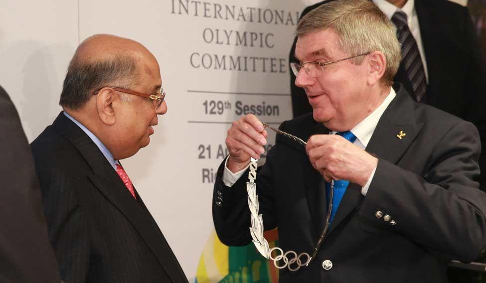 Ramachandran honoured with Olympic Order award