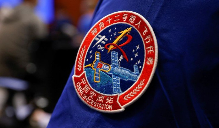 China-space-badge-of-the-Shenzhou-12-Manned-Space-Flight-Mission-june2021-reu