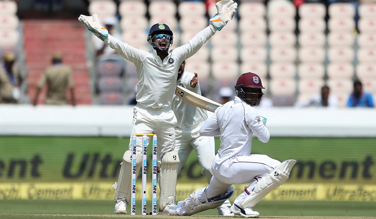 Second Test: Ashwin, Kuldeep strike as West Indies reach 86/3 at lunch on day 1