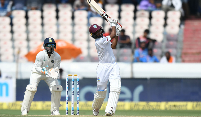 Second Test: Roston Chase defies India as West Indies score 295/7
