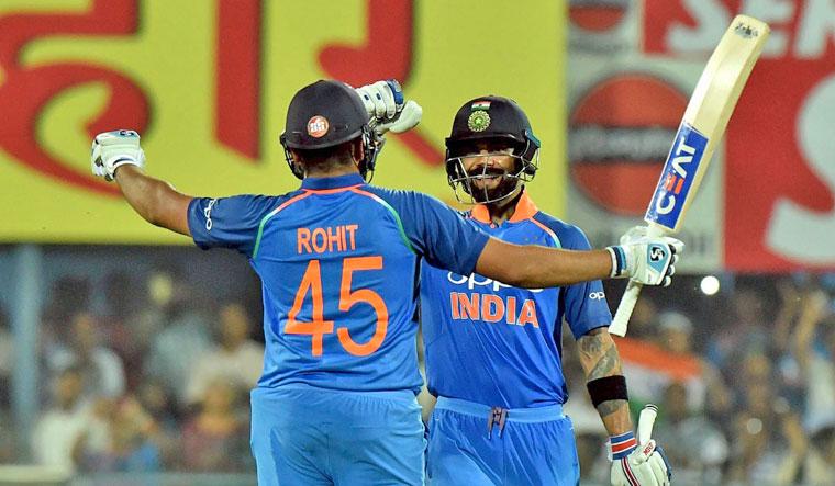 Kohli, Rohit pummel West Indies with centuries in first ODI