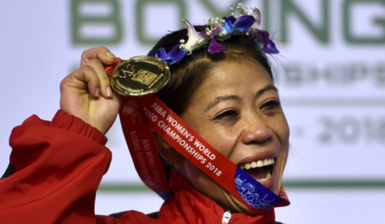 Mary Kom wins historic sixth gold