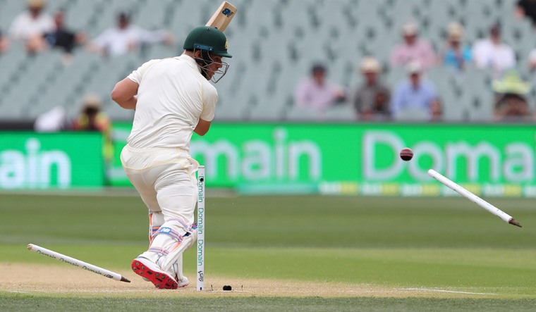 Aaron Finch bowled Adelaide