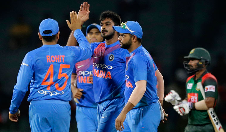 India bounce back in tri-series with six-wicket win against Bangladesh
