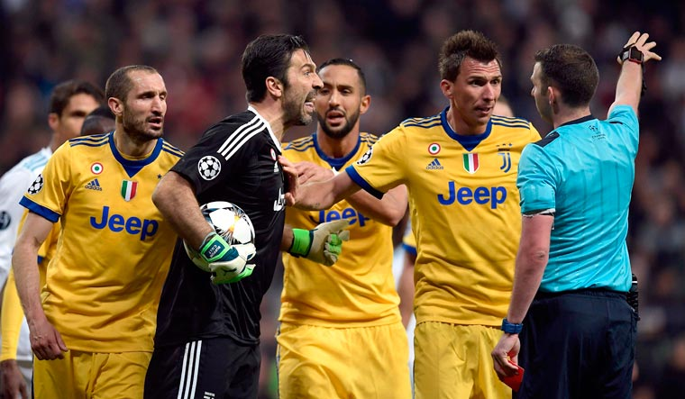 info for 7cbe9 b3872 Juventus v Real: Buffon slams referee for 'not showing ...