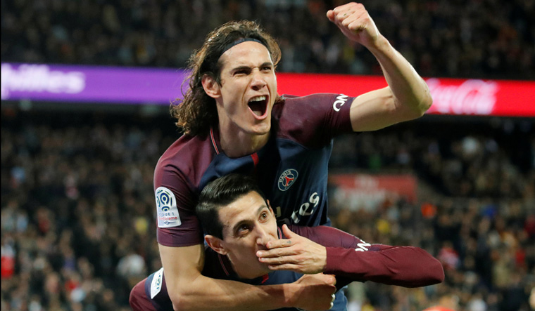 Paris St Germain win Ligue 1 title after thrashing AS Monaco 7-1