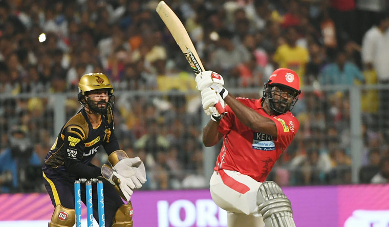 Punjab ride Gayle-Rahul show to beat KKR; top table