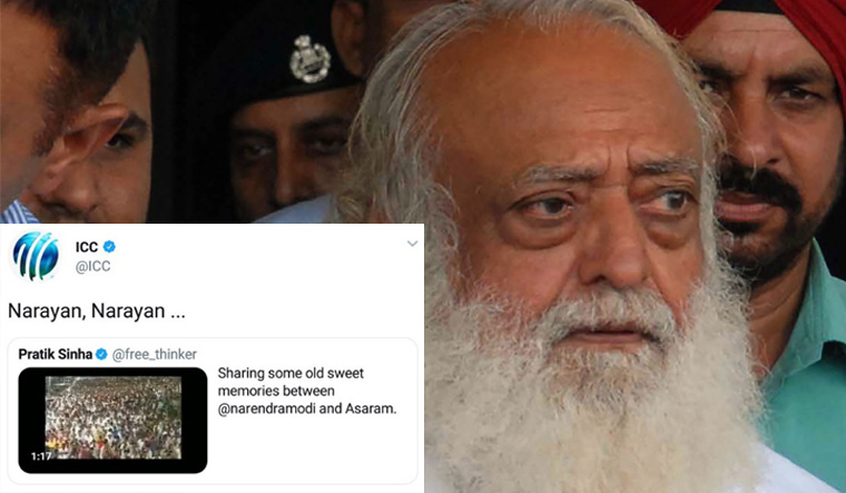 ICC trolled over 'Narayan, Narayan' Modi-Asaram post, apologises after major backlash