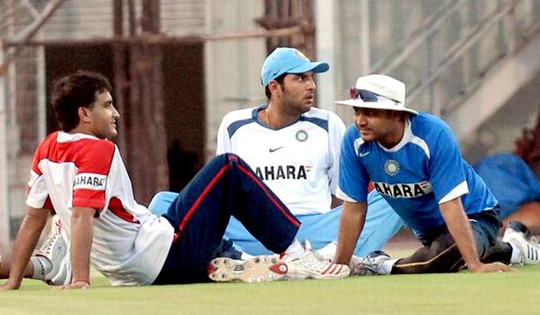 Image result for Sourav Ganguly Virender Sehwag, Harbhajan Singh, Yuvraj Singh