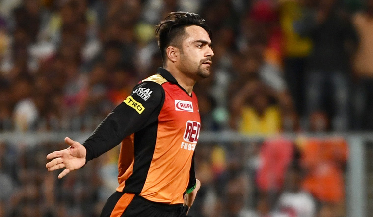 Rashid's all-round performance earned SRH a 14-run win over KKR in Qualifier 2