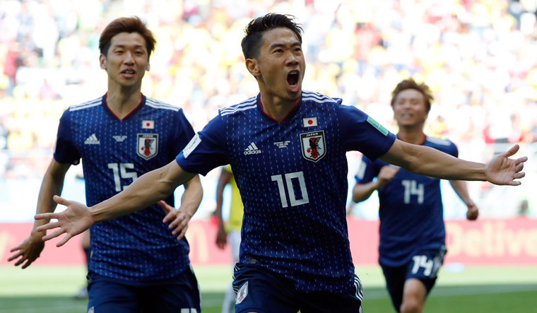 Japan stun Colombia 2-1 and make history