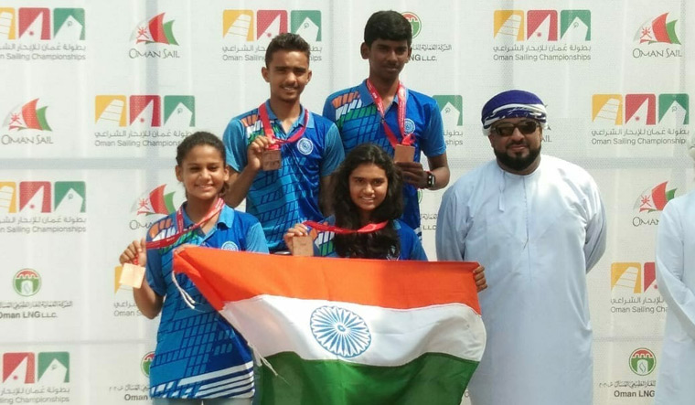 Indian sailors clinch five medals in Oman Sailing Championship