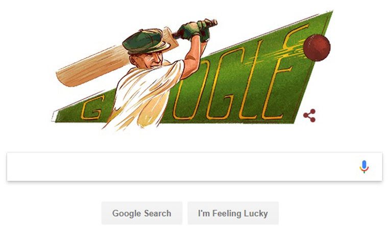 Google honours Don Bradman with doodle on 110th birth anniversary