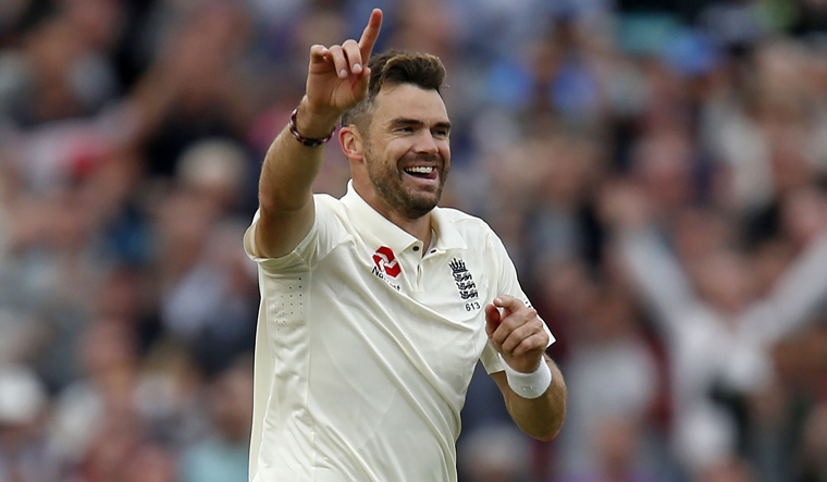 England pacer Anderson fined for showing dissent at umpire's decision