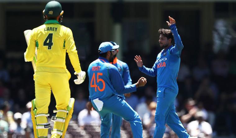 Kuldeep Carey wicket Sydney ODI