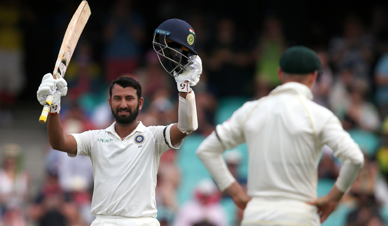 Sydney Test Pujara S Ton Sets The Ball Rolling For India Sydney