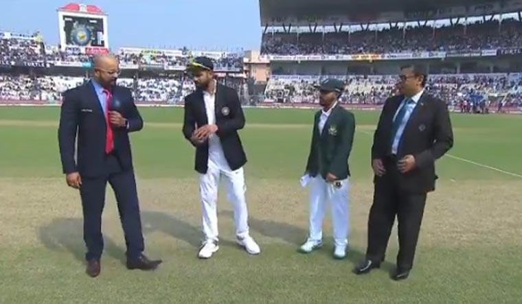 Day/Night Test: Bangladesh win toss, elect to bat first against India