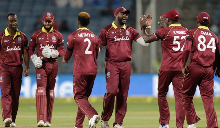 West Indies team during a T20 match | AP