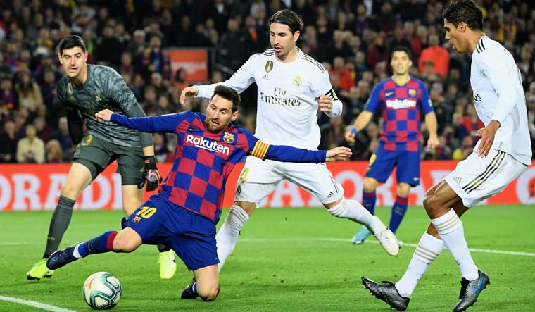 Barcelona held 0-0 by Madrid amid separatist protest at Camp Nou