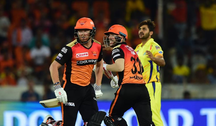 Sunrisers humble Super Kings by six wickets, bring life to campaign