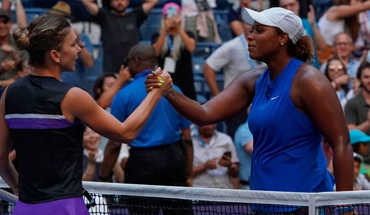 Taylor Townsend rallies past Simona Halep in stunning US Open upset