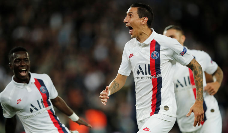Champions League Angel Di Maria Stars As Psg Thrash Real Madrid 3 0 The Week