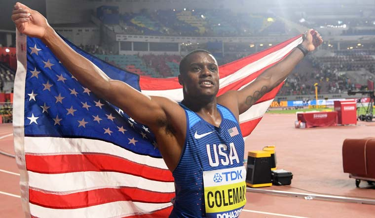 christian-coleman-100m-gold