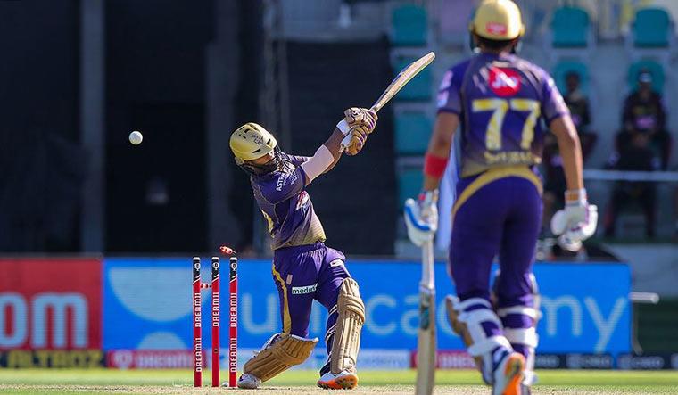 Kolkata Knight Riders (KKR) batsman Rahul Tripathi bowled out during their Indian Premier League (IPL) T20 cricket match against Sunrisers Hyderabad | PTI