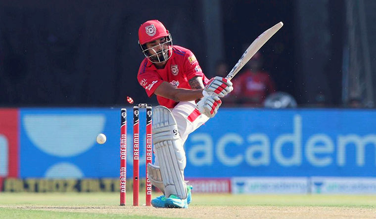Kings XI Punjab batsman KL Rahul gets clean bowled during the IPL T20 cricket match against Chennai Super Kings | PTI