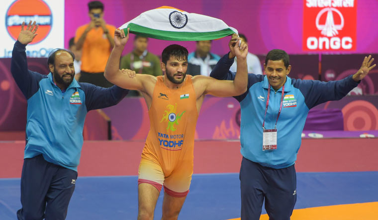 Asian Wrestling C'ships: Sunil wins gold; ends 27-year wait for India