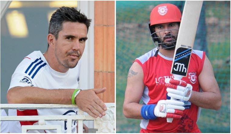 Kevin Pietersen (left) and Yuvraj Singh