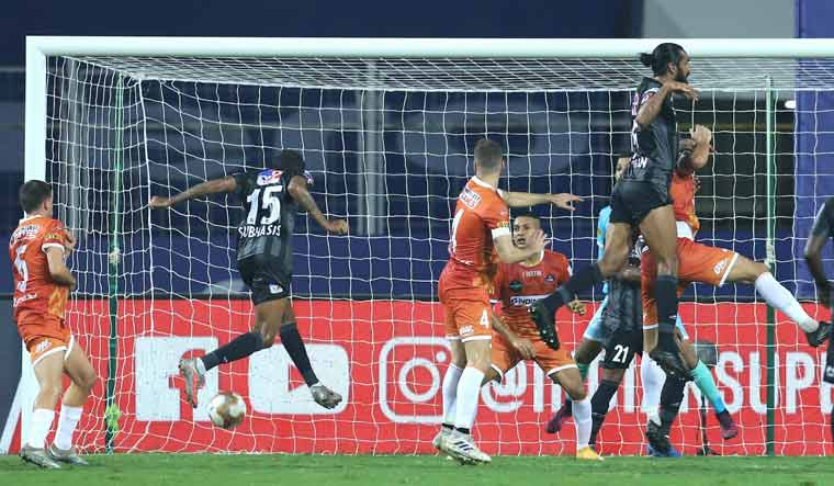 ATK Mohun Bagan and FC Goa players in action during their ISL match | PTI