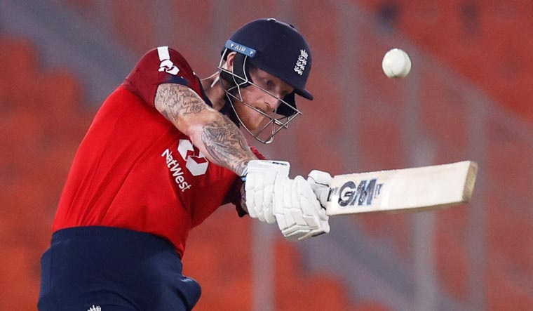 Ben Stokes in action during the fourth Twenty20 International in Ahmedabad on March 18 | Reuters