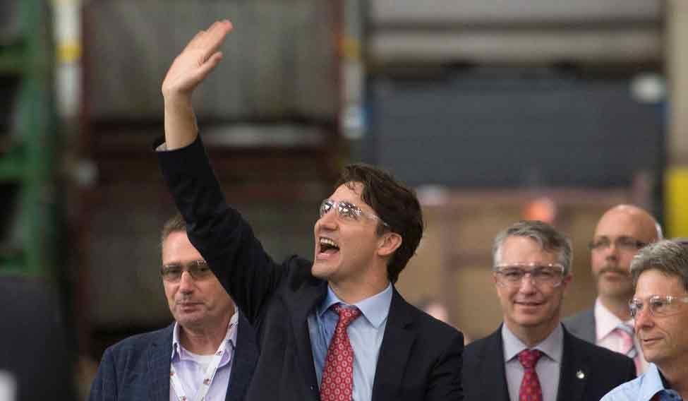 Canada Trudeau Plant Tour